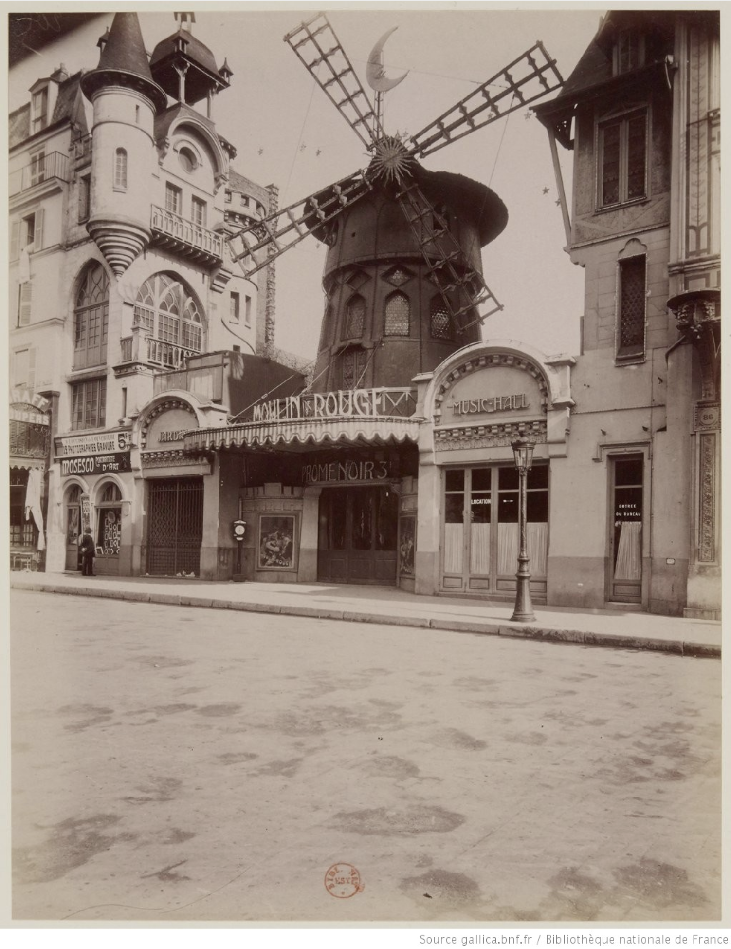 Le Moulin Rouge en 1910