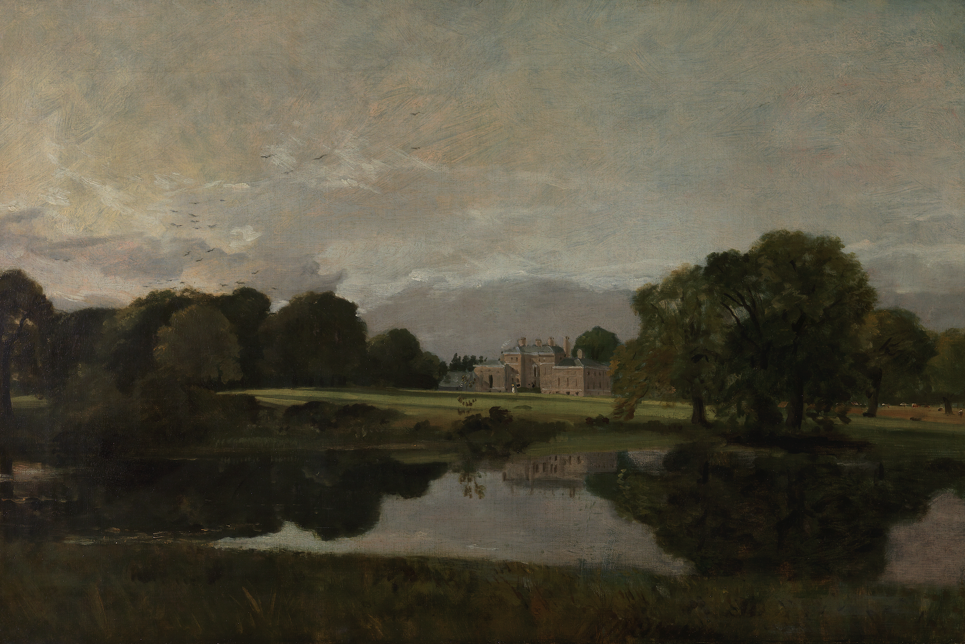 John Constable, Malvern Hall, dans le Warwickshire (1809), Londres, Tate
