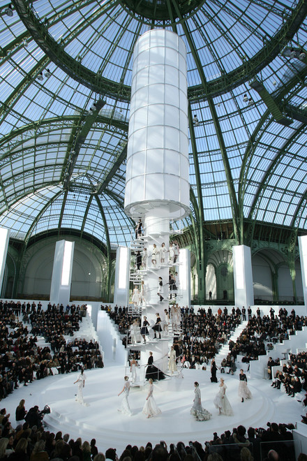 See the media:The tower, Chanel parade, spring-summer 2006.
