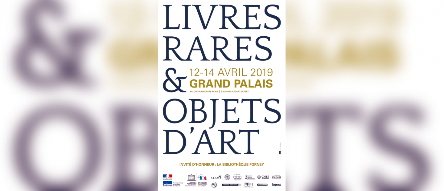 Affiche du Salon International du Livre rare & de l'Objet d'art