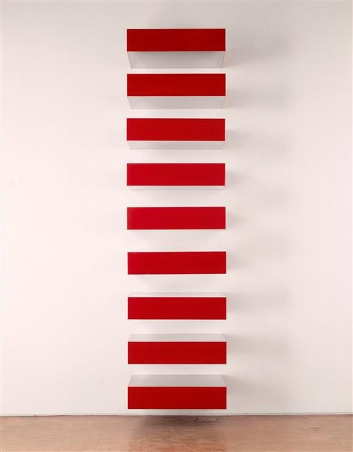 L 39 art minimal rmn grand palais for Donald judd stack 1972