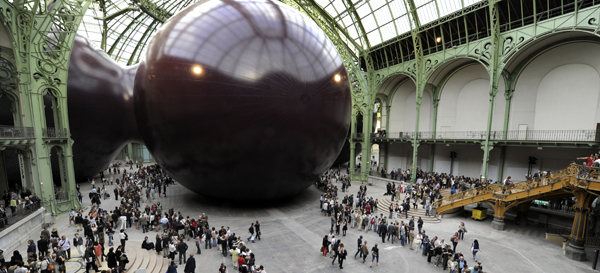 So what can be seen in the grand palais today rmn grand palais - Anish kapoor monumenta ...